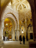 Interior of the Great Mosque (Mezquita) and Cathedral  Unesco World Heritage Site  Cordoba  Spain