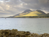 Croagh Patrick Mountain and Clew Bay  from Old Head  County Mayo  Connacht  Republic of Ireland