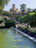 Fountains in Gardens  Cordoba  Andalucia (Andalusia)  Spain