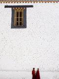 Buddhist Monks  Paro Dzong  Paro  Bhutan
