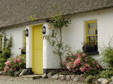 Thatched Cottages  Ballyvaughan  County Clare  Munster  Republic of Ireland