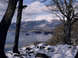 Derwentwater and Skiddaw in Winter  Lake District National Park  Cumbria  England