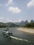 Cruise Boats on Li River  Between Guilin and Yangshuo  Guilin  Guangxi Province  China