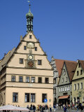 Ratstrinkstube and Town Houses  Marktplatz  Rothenburg Ob Der Tauber  Germany
