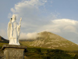 Statue of St Patrick at the Base of Croagh Patrick Mountain  County Mayo  Connacht  Ireland