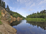 Ergelu (Erglu) Cliffs  River Gauja  Near Cesis  Gauja National Park  Latvia  Baltic States