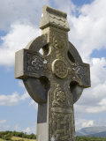 Celtic Style Cross  Graveyard at Burrishoole Abbey  Near Newport  County Mayo  Connacht  Ireland