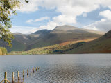 Lake Wastwater with Scafell Pike 3210Ft  and Scafell 3161Ft  Wasdale Valley  Cumbria
