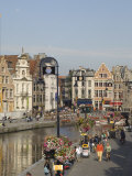 View of the Riverside with Merchants Premises  Ghent  Belgium