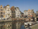 Merchants' Premises with Traditional Gables  by the River  Ghent  Belgium