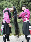 Women of Yao Minority (Longhair Tribe)  Longsheng Terraced Ricefields  Guilin  China