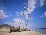 Shipwreck on the Beach  Fuerteventura  Canary Islands  Spain  Atlantic