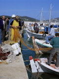 Fishermen Mending Nets  Greece