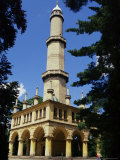 Turkish Style Minaret in Chateau Gardens  Lednice  South Moravia  Czech Republic