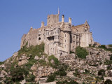 Castle Dating from the 14th Century  St Michael&#39;s Mount  Cornwall  England  United Kingdom
