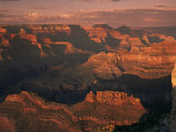 The Grand Canyon at Sunset from the South Rim  Unesco World Heritage Site  Arizona  USA