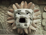 Sculpted Head of Goddess  Temple of Quetzacoatl  Teotihuacan  Mexico  North America
