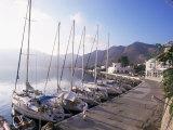 Yachts  Livadhia  Island of Tilos  Dodecanese  Greece