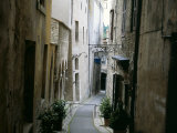 Narrow Street in Old Quarter  Spoleto  Umbria  Italy
