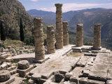 Temple of Apollo  Delphi  Unesco World Heritage Site  Greece
