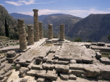 Temple of Apollo  Delphi  Unesco World Heritage Site  Greece