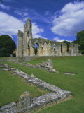 Ruins of Glastonbury Abbey  Glastonbury  Somerset  England  UK
