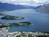 Queenstown Bay and the Remarkables  Otago  South Island  New Zealand