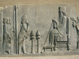 Relief of the Enthronement of Darius  Persepolis  Unesco World Heritage Site  Iran  Middle East