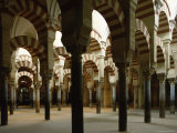 Interior of the Great Mosque  Unesco World Heritage Site  Cordoba  Andalucia  Spain