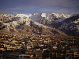 Towchal Range Behind the City  Tehran  Iran  Middle East