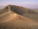 Orange Volcano Crater  Timanfaya National Park (Fire Mountains)  Lanzarote  Canary Islands  Spain