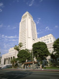 Exterior of City Hall  Los Angeles  California  United States of America (Usa)  North America