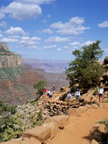 Hikers Return from Canyon Base  Grand Canyon  Unesco World Heritage Site  Arizona  USA