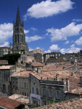 The Tower of L&#39;Eglise Monolithe  St Emilion  Gironde  Aquitaine  France