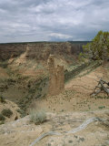 Rock Formation  Spider Rock from Rim  Canyon De Chelly  Arizona  USA
