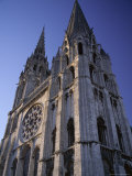 The Exterior of the Christian Cathedral  Chartres  Eure Et Loir  Centre  France