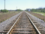 Rail Tracks Near Austin  Texas  USA