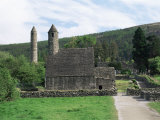 Monastic Gateway  Round Tower Dating from 10th to 12th Centuries  Glendalough  County Wicklow