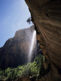 Emerald Pool Waterfall  Zion National Park  Utah  USA