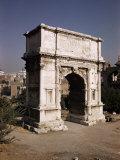 Arch of Titus  Commemorating Capture of Jerusalem in 70 AD  Rome  Lazio  Italy