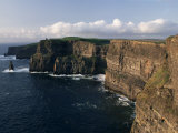Cliffs of Moher  Rising to 230M in Height  O&#39;Brians Tower and Breanan Mor Seastack  County Clare