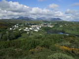 Clifden and the Twelve Pins or Benna Beola Mountains  County Galway  Connacht  Eire