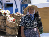 Old Woman  Hora  Mykonos  Cyclades  Greece