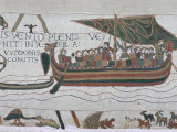 Harold Steers Ship Across Channel  a Scene from the Bayeux Tapestry  Bayeux  Normandy  France