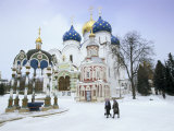 Cathedral of the Assumption in Winter Snow  Sergiev Posad  Moscow Area