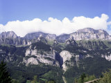 The Churfirsten Range  Near Wallenstadt and Wallensee  Swiss Alps  Switzerland