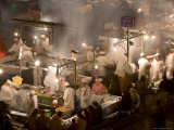 Food Stalls in the Evening  Djemaa El Fna  Marrakesh  Morocco  North Africa  Africa