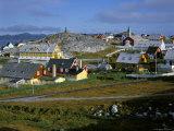 Our Saviour's Church and Jonathon Petersen Memorial  Nuuk (Godthab)  Greenland  Polar Regions
