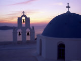 Greek Orthodox Church in Fira  Santorini (Thira)  Cyclades Islands  Greece