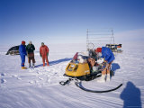 Oversnow Geophysical Team of the British Antarctic Survey  Antarctica  Polar Regions